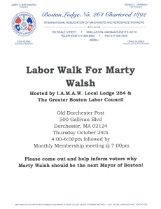 Marty Walsh 264 Labor Walk