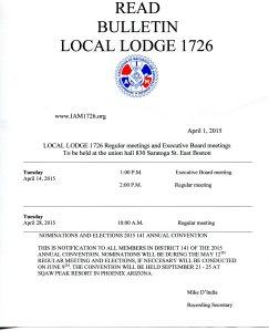 April Bulletin