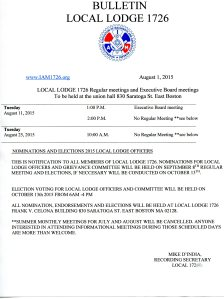 August Bulletin