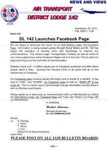 DL 142 Facebook Page