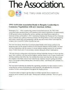 association update