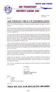 SWA True-Up Information