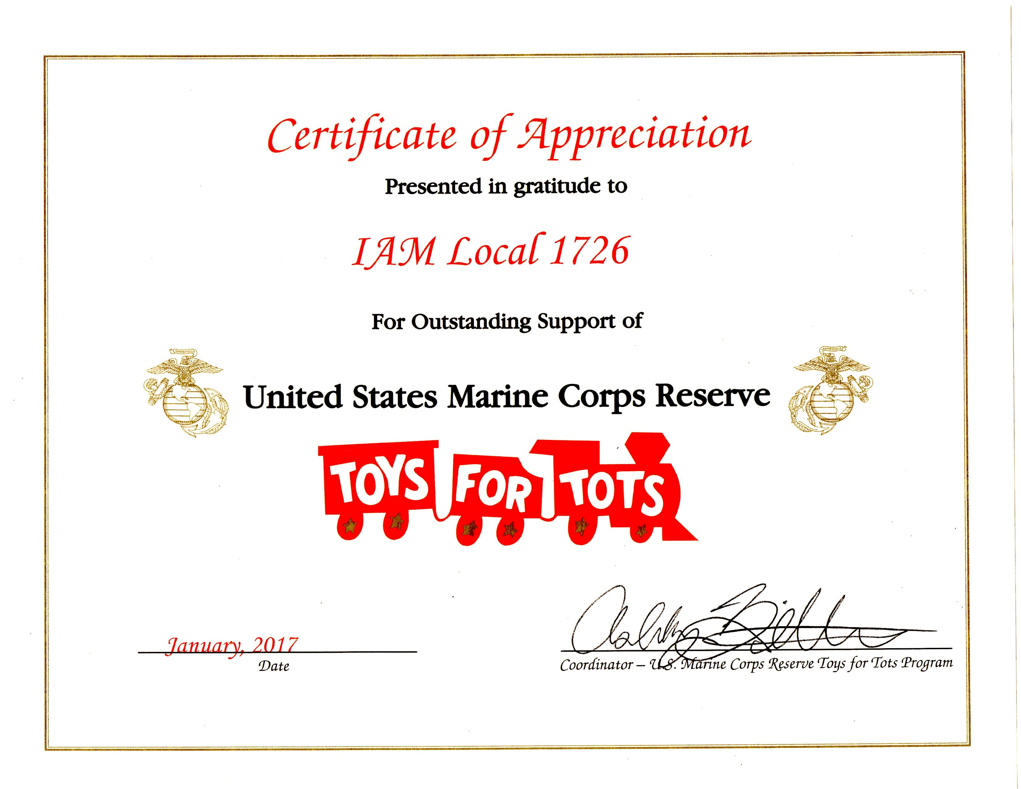 Announcement Email Sample Toys For Tots : Usmc thanks local for contributions to toys tots