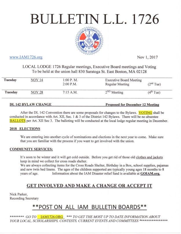Nov 2017 bulletin