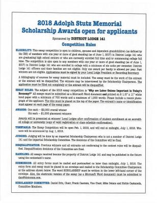 2018 141 scholarship rules