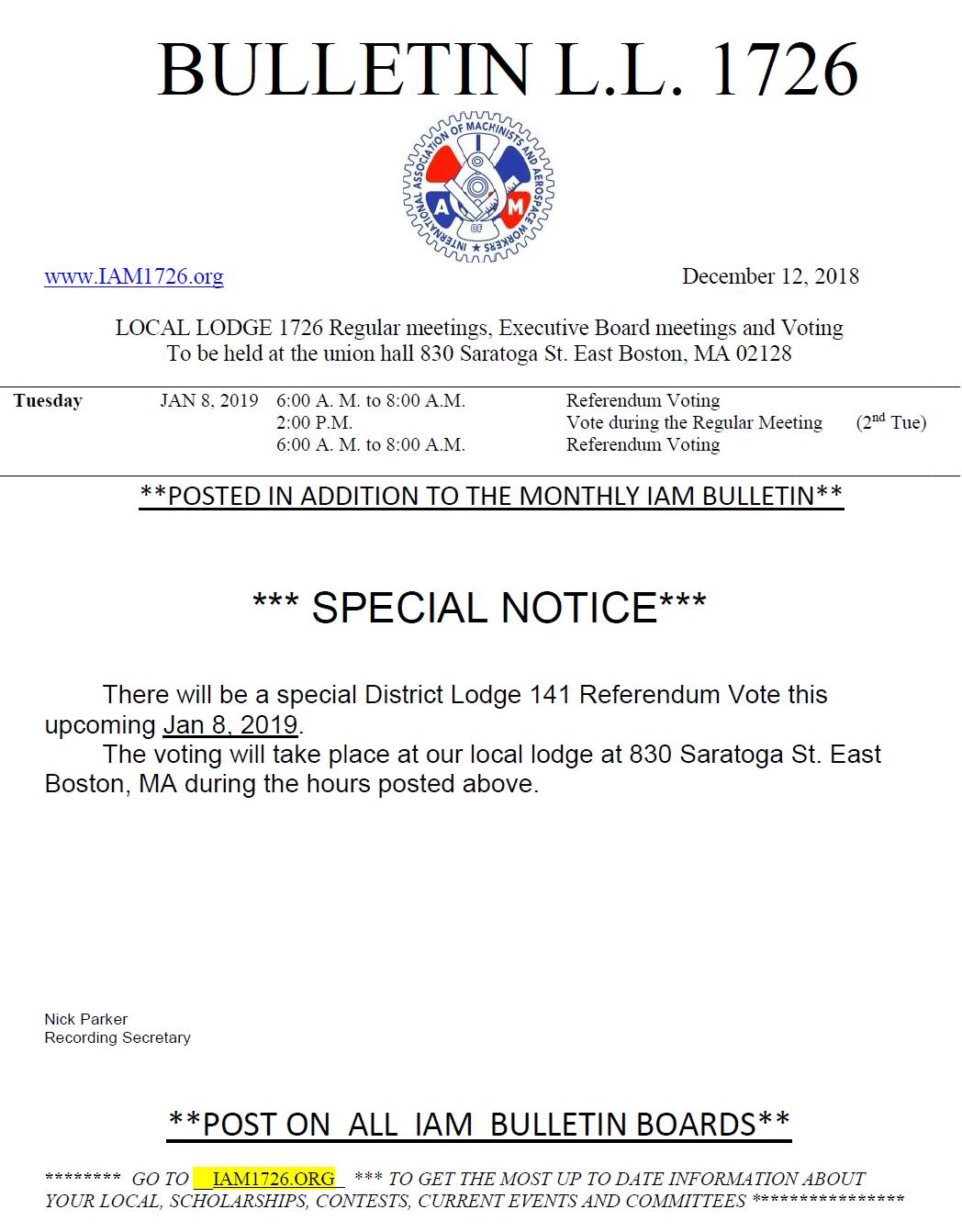 special notice 2
